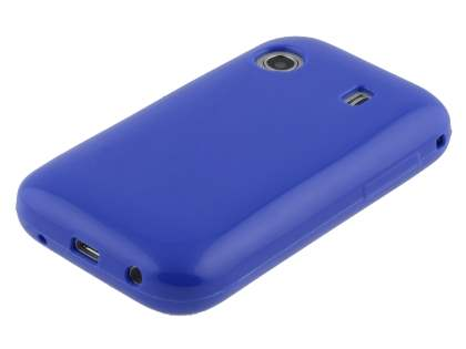 Samsung Galaxy Y S5360T Frosted Colour TPU Gel Case - Blue