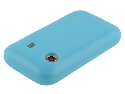 Samsung Galaxy Y S5360T Frosted Colour TPU Gel Case - Sky Blue