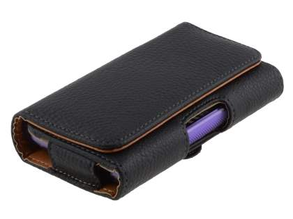 Textured Synthetic Leather Belt Pouch (Bumper Case Compatible) for LG Optimus L5 E610