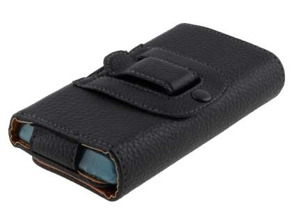 Textured Synthetic Leather Belt Pouch (Bumper Case Compatible) for Samsung Omnia 7
