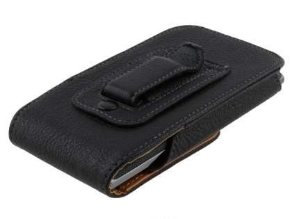 Textured Synthetic Leather Vertical Belt Pouch for LG Prada 3.0