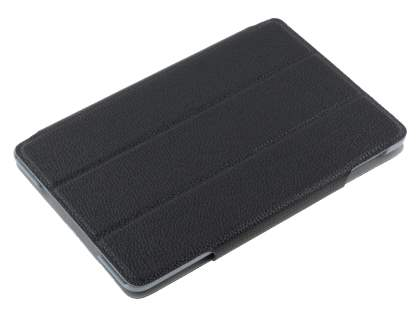 Slim Synthetic Leather Flip Case with Stand for iPad mini - Classic Black
