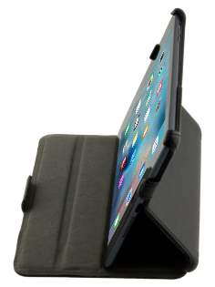 Synthetic Leather Flip Case with Multi-Angle Tilt Stand for iPad mini 1/2/3 - Classic Black Leather Flip Case