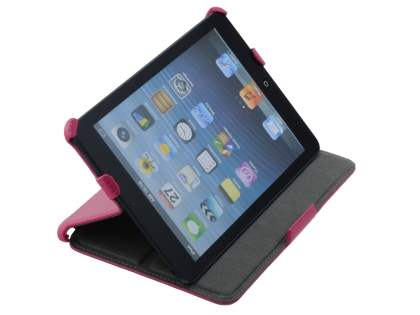 Premium iPad mini Slim Synthetic Leather Flip Case with Multi-Angle Tilt Stand - Pink