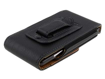 Textured Synthetic Leather Vertical Belt Pouch for HTC Velocity 4G