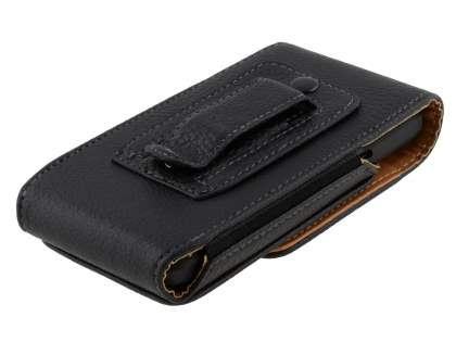 Textured Synthetic Leather Vertical Belt Pouch for HTC EVO 3D