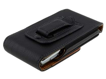 Textured Synthetic Leather Vertical Belt Pouch for Xperia X10