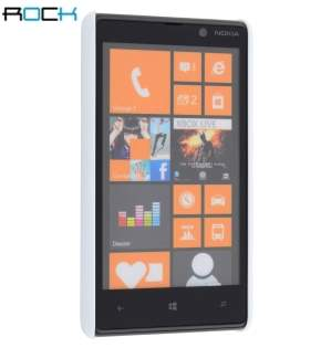 ROCK Nakedshell Glossy Colour Case for Nokia Lumia 820 - Pearl White