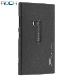 ROCK Nakedshell Glossy Colour Case for Nokia Lumia 920 - Gunmetal Black Hard Case