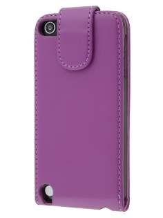 Synthetic Leather Flip Case for iPod Touch 5/6 - Purple Leather Flip Case