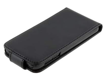 iPod Touch 5 Synthetic Leather Flip Case - Classic Black