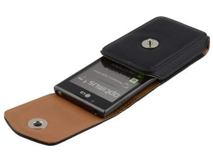 Textured Synthetic Leather Vertical Belt Pouch for LG Optimus L7 P700