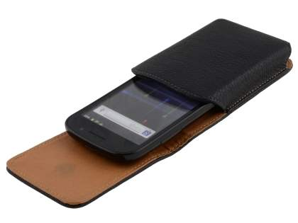 Textured Synthetic Leather Vertical Belt Pouch for Samsung Google Nexus S
