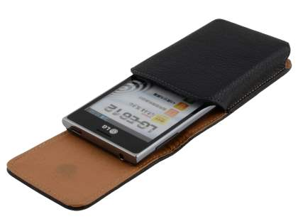 Textured Synthetic Leather Vertical Belt Pouch for LG Optimus L5 E610