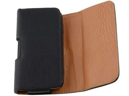 Textured Synthetic Leather Belt Pouch for Motorola ATRIX 2 MB865