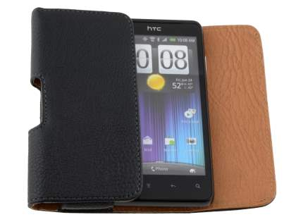 Textured Synthetic Leather Belt Pouch for HTC Velocity 4G