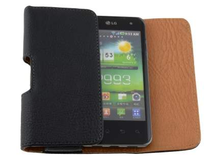 Textured Synthetic Leather Belt Pouch for LG Optimus 2X P990