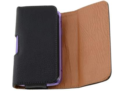 Textured Synthetic Leather Belt Pouch (Bumper Case Compatible) for Samsung Galaxy Xcover S5690