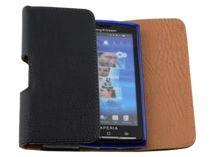 Textured Synthetic Leather Belt Pouch (Bumper Case Compatible) for Xperia X10