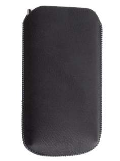 Synthetic Leather Slide-in Case with Pull-out Strap for LG Prada 3.0 - Classic Black