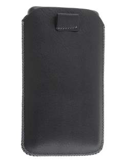 Synthetic Leather Slide-in Case with Pull-out Strap for Samsung I9210T Galaxy S II 4G - Classic Black