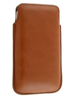 Genuine Leather Slide-in Case for HTC Sensation XL - Brown