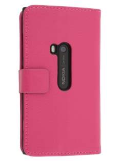 Synthetic Leather Wallet Case with Stand for Nokia Lumia 920 - Pink Leather Wallet Case