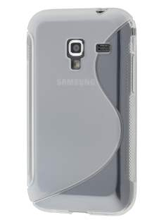 Wave Case for Samsung Galaxy Ace Plus S7500 - Frosted Clear/Clear Soft Cover