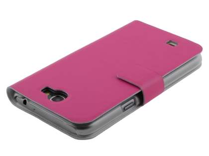 Samsung Galaxy Note 2 4G Slim Genuine Leather Portfolio Case - Pink