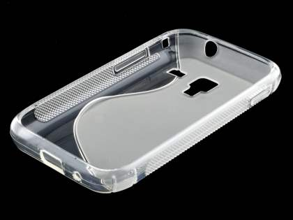 Samsung Galaxy Ace Plus S7500 Wave Case - Frosted Clear/Clear