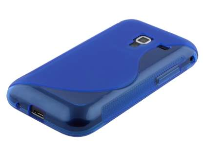 Wave Case for Samsung Galaxy Ace Plus S7500 - Frosted Blue/Blue