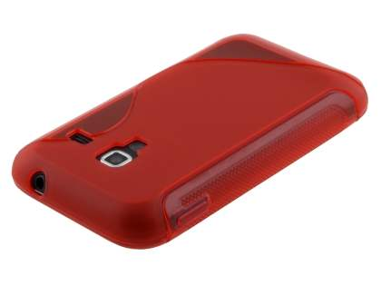 Samsung Galaxy Ace Plus S7500 Wave Case - Frosted Red/Red