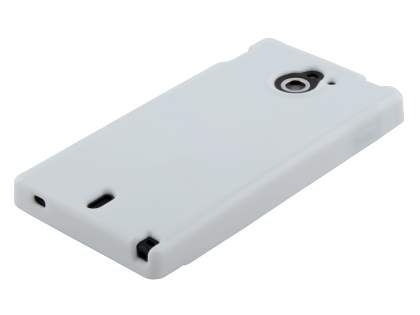 Colour TPU Gel Case for Sony Xperia Sola MT27i - Pearl White