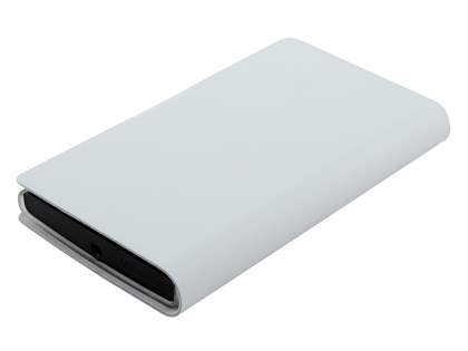 Slim Genuine Leather Portfolio Case for Nokia Lumia 920 - Pearl White