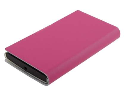 Nokia Lumia 920 Slim Genuine Leather Portfolio Case - Pink