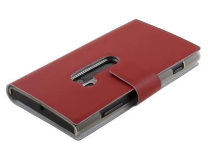 Nokia Lumia 920 Slim Genuine Leather Portfolio Case - Red