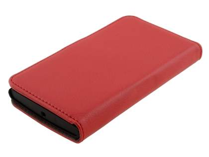 Synthetic Leather Wallet Case with Stand for Nokia Lumia 920 - Red