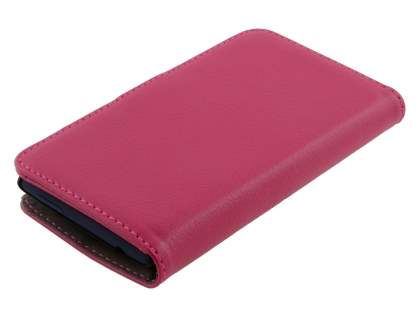HTC Windows Phone 8S Synthetic Leather Wallet Case with Stand - Pink