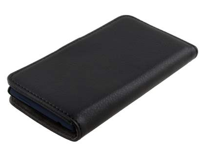 HTC Windows Phone 8S Synthetic Leather Wallet Case with Stand - Classic Black