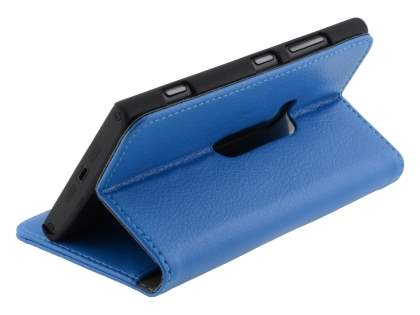 Nokia Lumia 920 Synthetic Leather Wallet Case with Stand - Blue