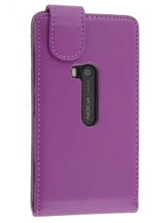 Synthetic Leather Flip Case for Nokia Lumia 920 - Purple Leather Flip Case