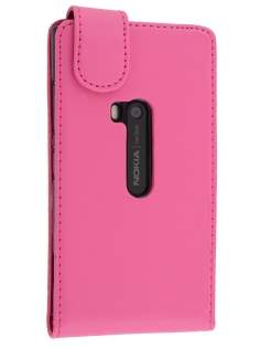 Synthetic Leather Flip Case for Nokia Lumia 920 - Pink Leather Flip Case