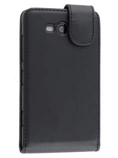 Synthetic Leather Flip Case for Nokia Lumia 820 - Black Leather Flip Case