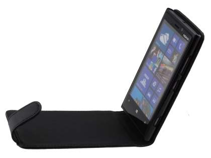 Synthetic Leather Flip Case for Nokia Lumia 920 - Black