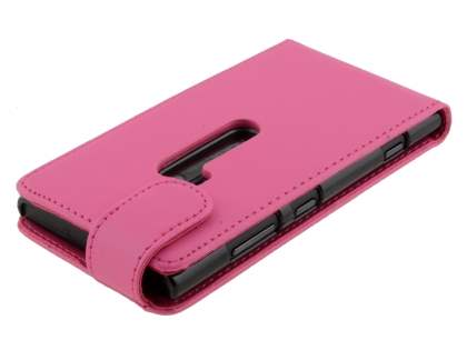 Nokia Lumia 920 Synthetic Leather Flip Case - Pink