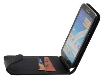 Samsung Galaxy Note 2 4G Synthetic Leather Flip Case - Black