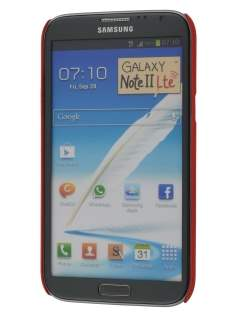 Sand Blasted Hard Case for Samsung N7100 Galaxy Note II - Red