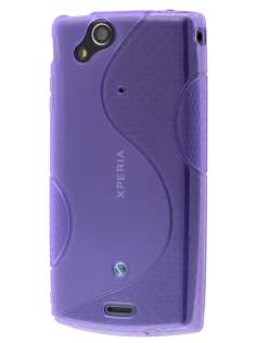 Sony Ericsson XPERIA Arc/Arc S Wave Case - Frosted Purple/Purple