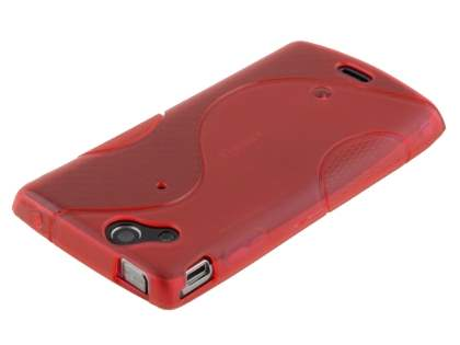 Sony Ericsson XPERIA Arc/Arc S Wave Case - Frosted Red/Red