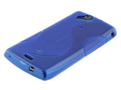 Sony Ericsson XPERIA Arc/Arc S Wave Case - Frosted Blue/Blue